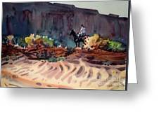 Navajo Rider Greeting Card