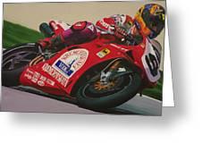 Neil Hodgson - Ducati World Superbike Greeting Card by Jeff Taylor