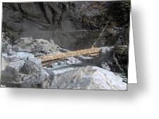 Nepal Bridge Greeting Card
