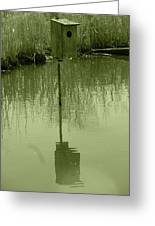 Nesting Box In A Marsh Greeting Card