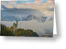 Neuschwanstein Castle Landscape Greeting Card