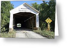 Nevins Covered Bridge Indiana Greeting Card