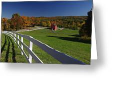 New England Barn In Autumn Greeting Card