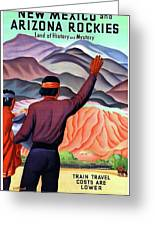 New Mexico And Arizona Rockies Greeting Card