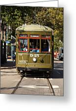 New Orleans Cable Car Greeting Card