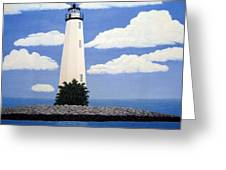 New Point Comfort Lighthouse Greeting Card