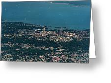 New Rochelle Real Estate Aerial Photo Greeting Card