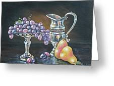 Fruit N Silver Greeting Card