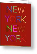 New York No 1 Greeting Card