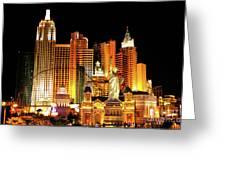 New York New York Hotel Greeting Card