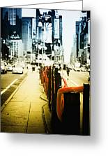 New York Times Square Greeting Card by Dapixara Art