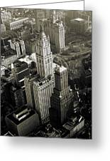 New York Woolworth Building - Vintage Photo Art Print Greeting Card