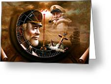 News Two Map Captain Or Two Sea Captain Greeting Card