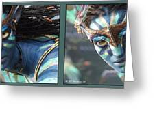 Neytiri - Gently Cross Your Eyes And Focus On The Middle Image Greeting Card