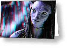 Neytiri - Use Red And Cyan 3d Glasses Greeting Card