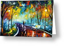 Night Park Greeting Card