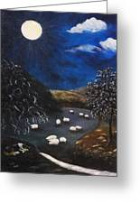 Night Watch In The Highlands Greeting Card