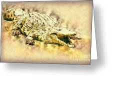Nile River Crocodile Greeting Card