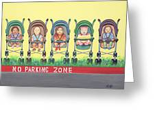 No Parking Zone Greeting Card