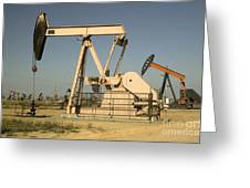 Nodding Donkey Oil Pumps Greeting Card
