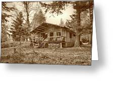 North Maine Cabin Greeting Card