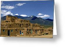 North Pueblo Taos Greeting Card
