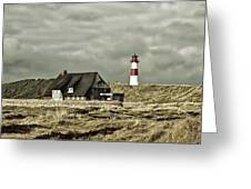 North Sea Lighthouse - Germany Greeting Card