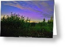 Northern Lights At Mount Pilchuck Greeting Card
