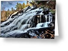 Northern Michigan Up Waterfalls Bond Falls Greeting Card