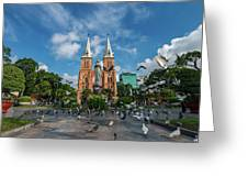 Notre-dame Cathedral Basilica Of Saigon, Officially Cathedral Basilica Of Our Lady Of The Immaculate Greeting Card