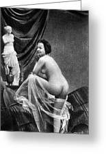 Nude Posing, 1855 Greeting Card