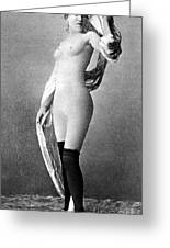 Nude Posing, C1888 Greeting Card