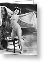 Nude Posing, C1900 Greeting Card