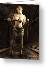 Nude Woman Model 1722  027.1722 Greeting Card