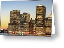 Ny Downtown Greeting Card