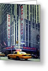 Nyc Radio City Music Hall Greeting Card by Nina Papiorek