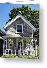 Oak Bluffs Cottage Greeting Card