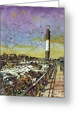 Oak Island Lighthouse Greeting Card