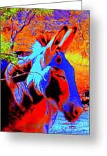 Oatman Burro Greeting Card
