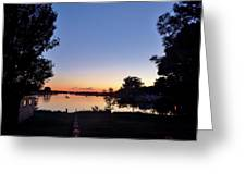 Obear Park And The Danvers River At Sunset Greeting Card