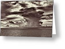 Ocean God Clouds Greeting Card