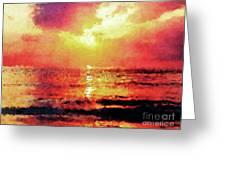 Ocean Sunrise Greeting Card
