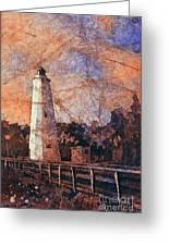 Ocracoke Island Lighthouse Greeting Card