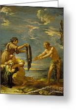 Odysseus And Nausicaa Greeting Card