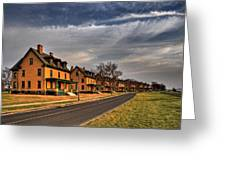 Officer's Row At Sandy Hook  Greeting Card