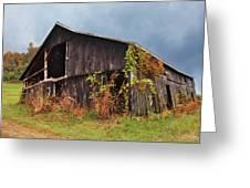 Ohio Barn In The Fall Greeting Card
