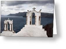 Oia Santorini 0989 Greeting Card