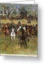Oklahoma Land Rush, 1891 Greeting Card