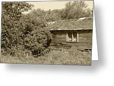 Old Abandoned Barn Falling To Ruin Greeting Card