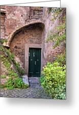 Old Buildings In The Jewish Ghetto In Rome Greeting Card